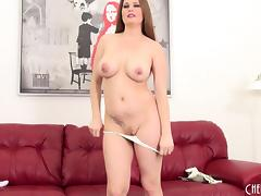 Curvy Allison Moore shows off her fine body on her cam