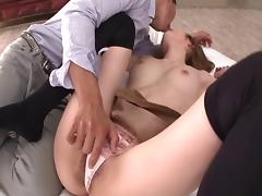 Stunning Asian chick with big fabulous tits enjoying a hardcore cowgirl style fuck porn tube video