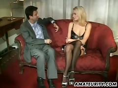 Curvaceous blonde chick is ready to both ride and suck the dick porn tube video