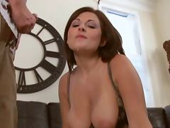 milf sucks cock in her bra tube porn video