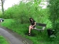 Amateur Butt Fucked in the Park porn tube video