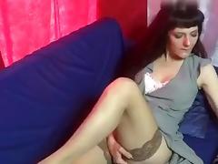 Webcam, Amateur, Brunette, Masturbation, Solo, Stockings
