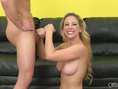 During her live show Cherie Deville gets fucked and cums