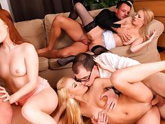 Denisa Heaven, Bella Karina, Yenna Love, Neeo in 5 Incredible Orgies, Scene #04 porn tube video