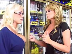 Tantalizing vixens in dire need of a hard fuckin' granted in a FFM threesome