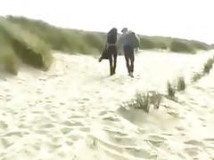 Beach, Beach, Blowjob, Brunette, Lady