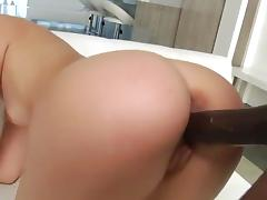 sexy college girl blonde takes BBC