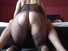 Round ass spanking catsuit, than fuck tube porn video
