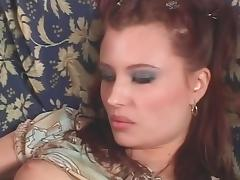 Beautiful redhead gets her pretty face creamed after a good fuck porn tube video