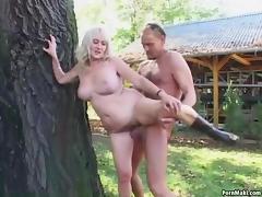 Grandma, Big Tits, Boobs, German, Granny, Hairy