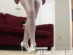 Feel how soft my silky pantyhose are JOI