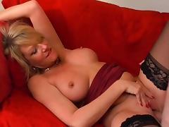 Mom and Boy, Big Tits, Blonde, Blowjob, Boobs, Fucking