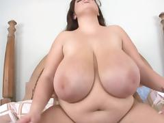 White Bluse Huge BBW Fat Tits Fucked from BBC porn tube video
