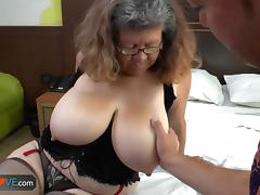 Agedlove granny with big tits banged porn tube video