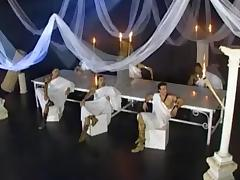 Michelle and friend invited to white party