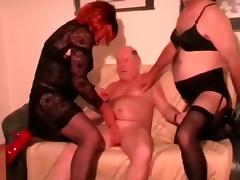 old man with crossdressers tube porn video