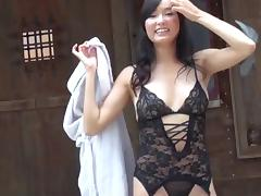 Lace lingerie is a lustful delight on the hardcore Japanese slut porn tube video