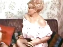 60s two blonde matures stripping some boobies tube porn video