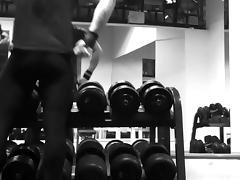 lycra man in gym tube porn video