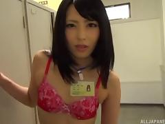 Sluttiest Asian office babe gives a blowjob to her boss porn tube video