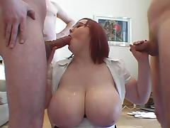 BIG Tit Bukkake  part 1 porn tube video
