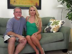 Old guy with grey hair gets to nail the always sexy Aaliyah Love porn tube video