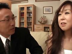 Finger fucked Japanese girl screwed in her juicy cunt