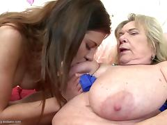 Grannies and moms fuck young lesbian meat tube porn video