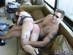 Cute girlfriend rides a throbbing dick tube porn video