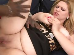 BBW and a super thick black cock have hot anal sex porn tube video