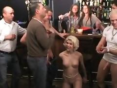 Gangbang at the cocktail bar