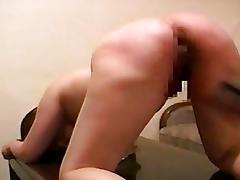 Japanese brunette spanked in bdsm