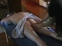 Hotwife gets fucked by her masseur. porn tube video
