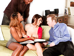 Tori Taylor,Raylene,Lee Bang,Mark Wood in Interracial Swingers #04, Scene #02