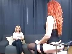 redhead vs blonde tribbing porn tube video