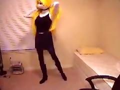 Kigurumi mink girl with black pantyhose porn tube video
