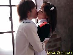 Japanese cosplay babe Mao Hamasaki cockriding porn tube video