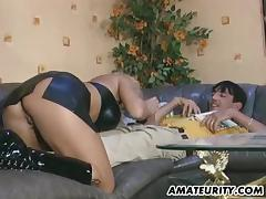 Busty amateur Milf sucking and fucking porn tube video