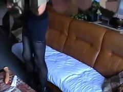 Dirty crossdresser plays on a sofa tube porn video