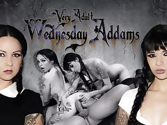 Ramon Nomar & Necro Nicki & Judas in Very Adult Wednesday Addams - Afterparty Scene porn tube video