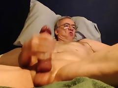 big cock grandpa stroke on cam (no cum) tube porn video