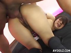 Asian sluts pussy getting fucked with a huge pecker tube porn video