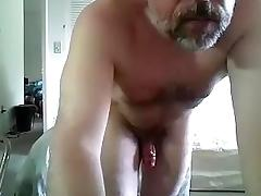 Charming boy is beating off in the apartment and memorializing himself on web cam