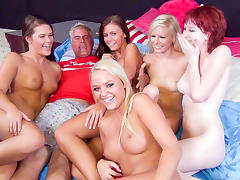 Elaina Raye, Abby Cross, Alexis Monroe, Whitney Westgate, Zoey Nixon in Five Floozy Females Fuck For Fun Video porn tube video