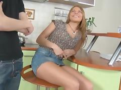 Beautiful Babe - Kitchen Handcuffs Play tube porn video