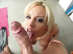 Bubble butt blonde gets her pussy and ass oiled up and fucked porn tube video