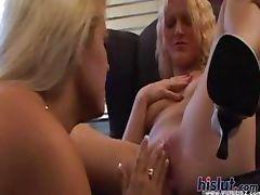 These sluts eat pussy