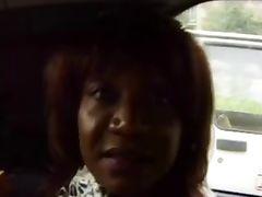 Crazy Ebony Mom fuckin in the car and outdoor tube porn video