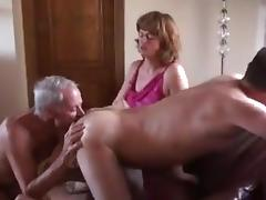 Bisexual cuckold couple MMF porn tube video