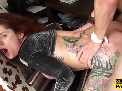 Redhead bdsm brit dominated with anal fucking tube porn video